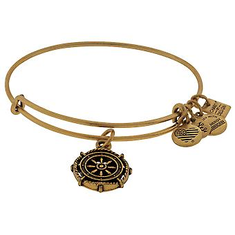 Alex and Ani Take the Wheel Charm Bangle - Rafaelian Gold - CBD15TTWRG