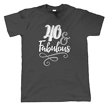 40 en fantastische mens T-shirt | Gelukkige verjaardag feest ouder worden | Leeftijd gerelateerde jaar verjaardag nieuwigheid cadeau aanwezig | De gift van de verjaardag hem vader