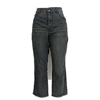 Isaac Mizrahi Live! Women's Petite Jeans TRUE DENIM Gray A372071