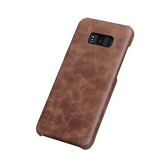 for Samsung Galaxy S8 PLUS tilfelle, elegant ekte beskyttende skinndeksel, kaffe