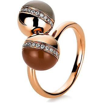 Gemstone Ring Diamonds 0.14ct. Moonstone 4.37 ct. Size 53