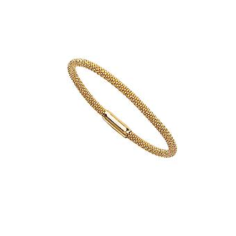 925 Sterling Silver Gold Flashed 3.7mm Sparkle Cut Magnet Beaded Bracelet 7.50 Inch Jewelry Gifts for Women