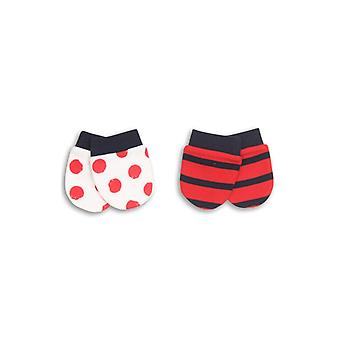 The Essential One Bright Spot Stripe Baby Scratchmittens - 2 Pack