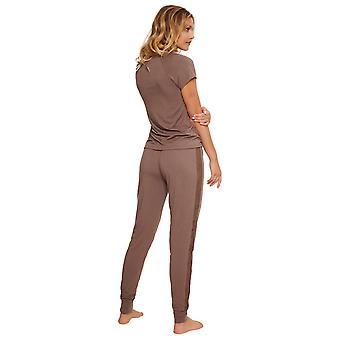 LingaDore 5425-250 Women's Ravi Deep Taupe Brown Pyjama Set