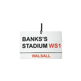 Walsall / Banks'S Stadium Street Sign Car Air Freshener