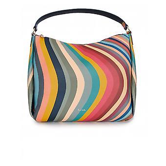 Paul Smith Accessories Swirl Leather Zip Hobo Bag