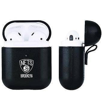 Brooklyn Netten NBA Fan Brander Zwart Lederen AirPod Case
