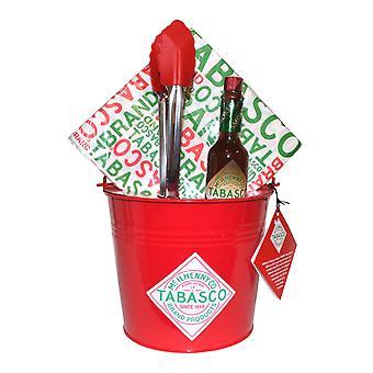 Tabasco Csirkeszárnyak Bucket Set Tabasco mártással, Vödör, Fogó, Szalvéta