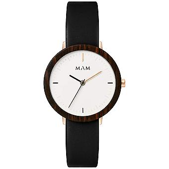 Mam Original Japanese Quartz Analog Woman Watch with FERRA 632 Cowskin Bracelet