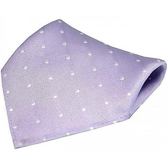 David Van Hagen Polka Dot Silk Pocket Square - Lilac/White