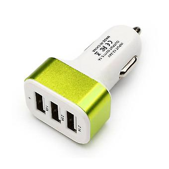 Stuff Certified® High Speed ??3-Port Charger / Carcharger 5V - 4.1A - Green