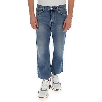 Balenciaga 594609tdw144065 Men's Blue Polyester Jeans