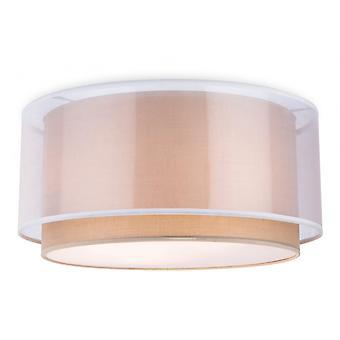 Firstlight Cyclic Modern Transitional Drum Shade Flush Light