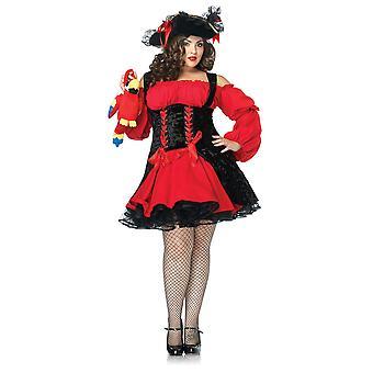 Womens Plus Size Vixen Pirate Wench Dress Costume