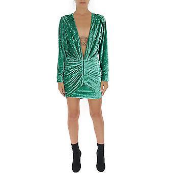 Attico 192wca40vt05028 Damen's grün Polyester Kleid