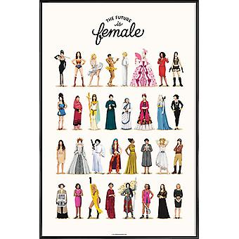 JUNIQE Print - The Future Is Female - Motivation Poster in Colorful