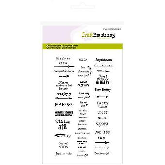 Craftemotions Clear Stamps A6 - Text Small