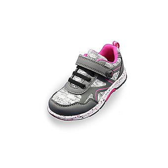 Lurchi grey marl and pink trainers