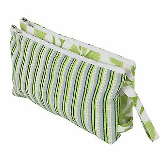 Radiance: Fabric Double Zipped Pouch: Large