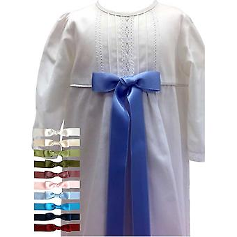Christening Gown In White, 10 Free Choices Of Bow -  Grace Of Sweden