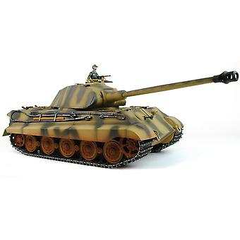 Taigen Hand Painted RC Tank - Full Metal Upgrade - King Tiger - 2.4GHz