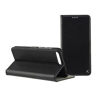 Folio matkapuhelin tapauksessa Huawei Y6 2018 KSIX Musta