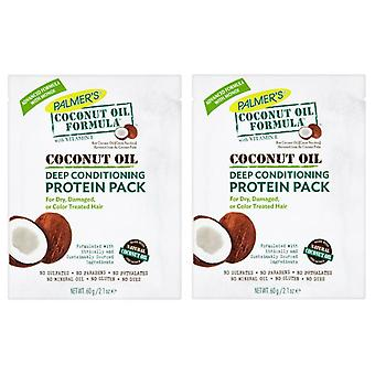 Palmer's Coconut Oil Formula Deep Conditioner Protein Pack 60g (2-Pack)