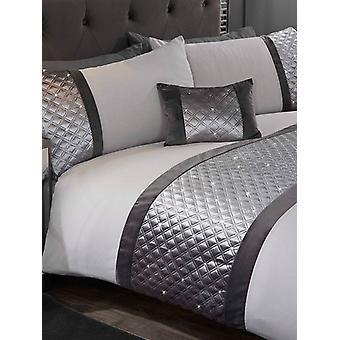 Hollywood Dekbed cover en kussensloop Bed Set - Koning, Zilver