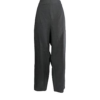Susan Graver Women's Petite Pants Weekend Premium Stretch Black A370902