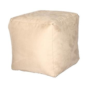 Seat cube Alka champagne size 40 x 40 x 40 with filling