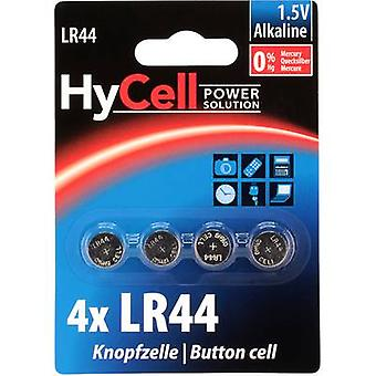 HyCell AG13 Button cell LR44 Alkali-manganese 140 mAh 1.5 V 4 pc(s)