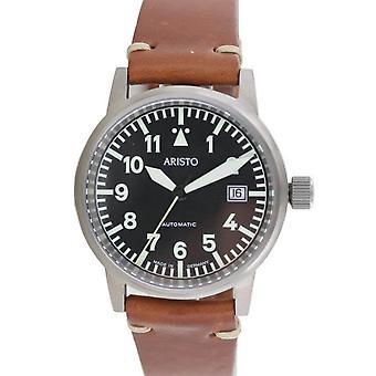 Aristo Unisex Ceas ceas de mână Vintage Pilot's Watch Automatic Titanium 5H100