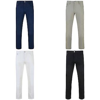 Kam Jeanswear Mens Alba Slim Fit Chino Jeans