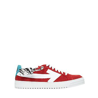 Off-white Omia177e20lea0012501 Hommes-apos;s Red Suede Sneakers