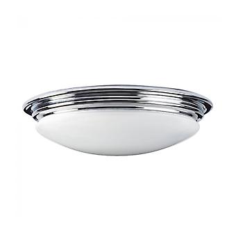 Brompton Ceiling Light, Chrome And Glass