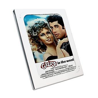 John Travolta signiert Fett Poster. In Geschenk-Box