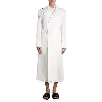 Bottega Veneta 603434vki809004 Women's White Cotton Trench Coat