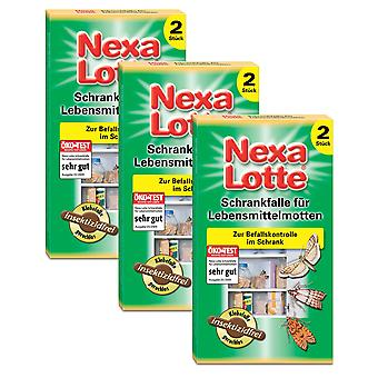 Sparset: 3 x NEXA LOTTE® cupboard trap for food moths, 2 pieces