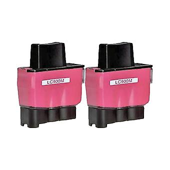 RudyTwos 2x Replacement for Brother LC-900M Ink Unit Magenta Compatible with DCP-110C, DCP-111C, DCP-115C, DCP-117C, DCP-120C, DCP-310, DCP-310CN, DCP-315C, DCP-315CN, DCP-340CN, DCP-340CW, Fax-1835,