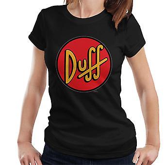 The Simpsons Duff logo-T-shirt til kvinder