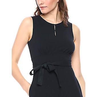 Marke - Lark & Ro Frauen's ärmellose Rundhalsgürtel A-Linie Kleid mit Taschen, Marine, 8