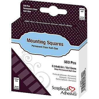 Scrapbook Adhesives Mounting Squares Clear (500pcs) (01602)
