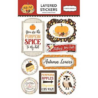 Carta Bella Hello Fall Layered Stickers
