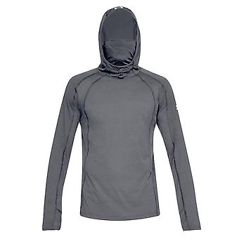 Under Armour Microthread Swyft Mens Over Head Face Hoodie Grijs