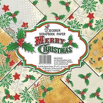 Decorer Merry Christmas 8x8 Inch Paper Pack
