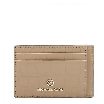 MICHAEL Michael Kors Small Crocodile Embossed Leather Card Case Truffle