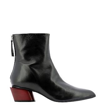 Halmanera Nina11neropassion Women's Black Leather Ankle Boots