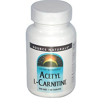 Source Naturals, Acétyl L-Carnitine, 500 mg, 60 comprimés