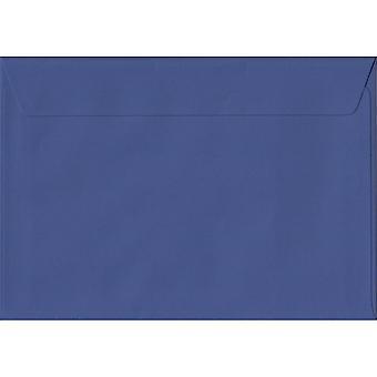 Iris Blue Peel/Seal C6/A6 Coloured Blue Envelopes. 100gsm FSC Sustainable Paper. 114mm x 162mm. Wallet Style Envelope.