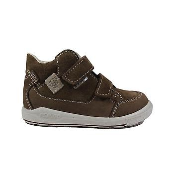 Ricosta Zach 2422600-262 Tan Nubuck/Suede Leather Boys Rip Tape Ankle Boots
